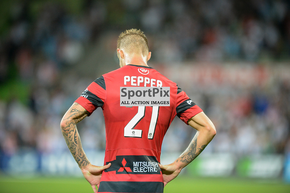 Jacob Pepper of Western Sydney Wanderers FC at the end of the Hyundai A-League, January 9th 2016, RD14 match between Melbourne City FC v Western Sydney Wanderers FC at Aami Park in a 3:2 win to City. Melbourne, Australia. © Mark Avellino | SportPix.org.uk