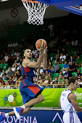 Nicolas Batum #5 of France lays the ball up during basketball match between National teams of France and Great Britain at Day 2 of Eurobasket 2013 on September 5, 2013 in Tivoli Hall, Ljubljana, Slovenia. (Photo By Urban Urbanc / Sportida )
