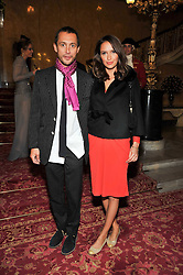 DAN MACMILLAN and SASHA VOLKOVA  at a party to celebrate 300 years of Tatler magazine held at Lancaster House, London on 14th October 2009.