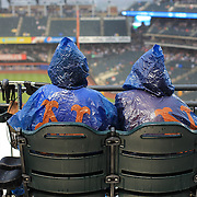 Die hard New York Mets fans during a rain delay before the New York Mets V Arizona Diamondbacks Major League Baseball game  at Citi Field, Queens, New York. USA. 3rd July 2013. Photo Tim Clayton