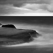 Stormy Surf - Aliso Creek Beach - Dusk - Black & White