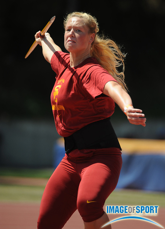 May 3, 2008; Los Angeles, CA, USA: Kristine Busa of Southern California won the women's javelin at 161-6 (49.22m) in dual meet against UCLA at Drake Stadium.