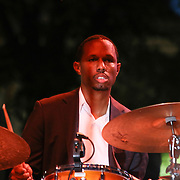 Jazz drummer Willie Jones III performs with Jazz Artist Dianne Schuur in front of a large crowd at the 26th annual duPont Clifford Brown Jazz Festival Wednesday, June 18, 2014, at Rodney Square Park in Wilmington, DEL.    <br /> <br /> &ldquo;The Clifford Brown Jazz Festival is a staple of Wilmington&rsquo;s performing arts culture,&rdquo; said Mayor Dennis P. Williams. &ldquo;The City is excited to celebrate the 26th anniversary and I hope the community gets involved and enjoys all of the many activities the festival has to offer.&rdquo;