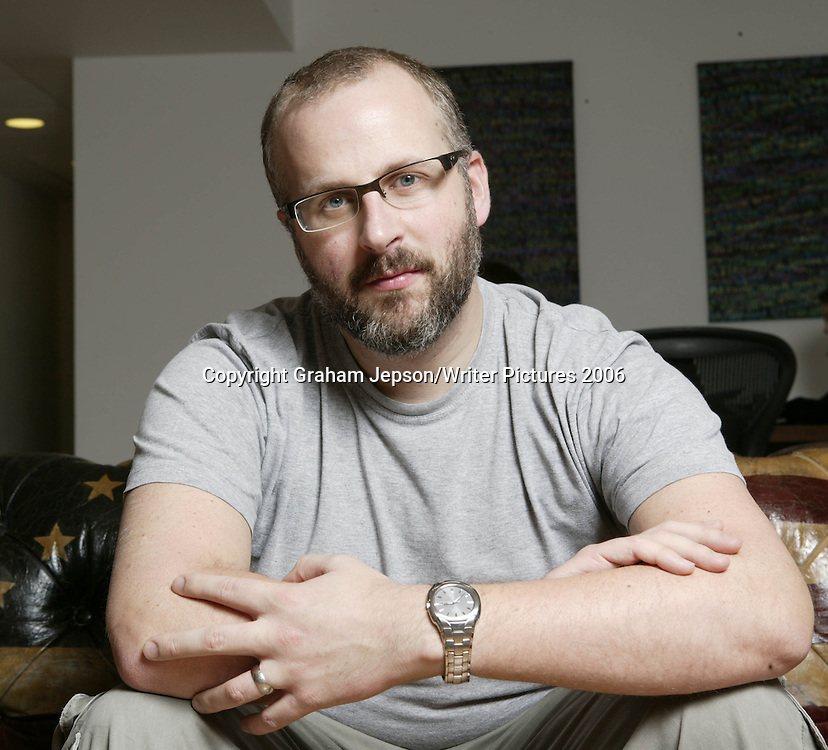 The co-author of the Television show  Sam Bain <br /> Copyright Graham Jepson/Writer Pictures<br /> contact +44 (0)20 822 41564<br /> sales@writerpictures.com<br /> www.writerpictures.com