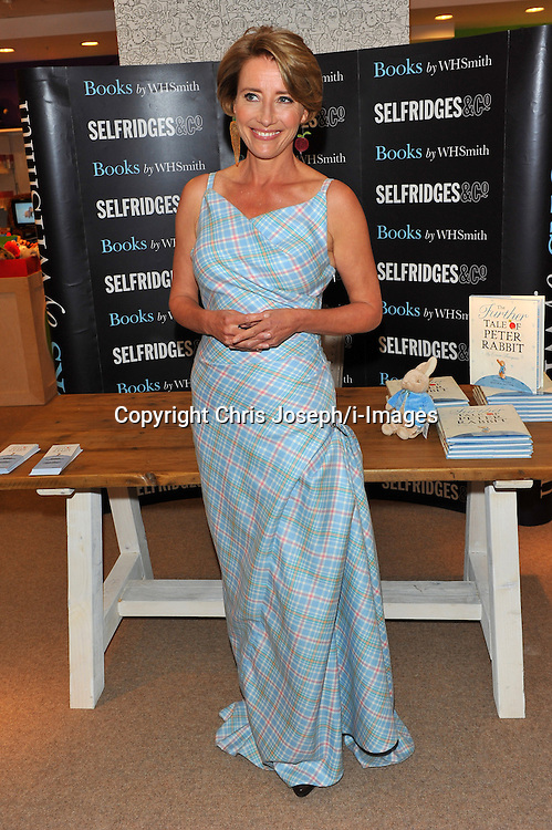 Emma Thompson at the 'The Further Tale of Peter Rabbit' book signing held at Selfridges London, Thursday September 6, 2012. Photo By Chris Joseph/i-Images