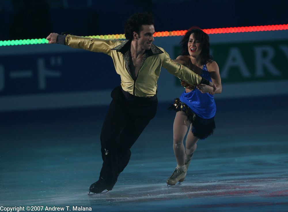 TOKYO - MARCH 25: Marie-France Dubreuil and Patrice Lauzon of Canada performs in an exhibition program during at the World Figure Skating Championships at the Tokyo Gymnasium on March 25, 2007 in Tokyo, Japan. (Photo by Andrew T. Malana)..