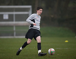 CARDIFF, WALES - Thursday, March 15, 2012: Wales U16's Cian Harries (Coventry City FC & Arden School) during a training session at the Glamorgan Sports Park. (Pic by David Rawcliffe/Propaganda)