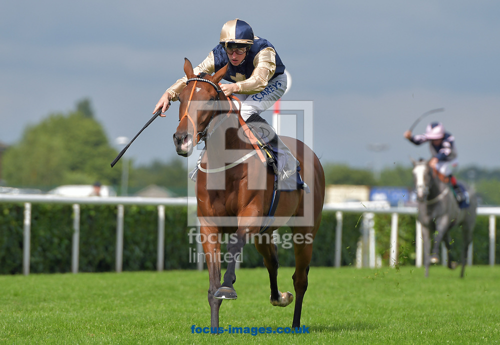 Injam ridden by Joey Haynes wins Best Odds Guaranteed at 188bet handicap stakes at the 188 Bet Summer Afternoon meeting at Doncaster Racecourse, Doncaster<br /> Picture by Martin Lynch/Focus Images Ltd 07501333150<br /> 30/06/2017
