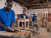 Inside the workshop at TCCIA. VSO volunteer business advisor, Ramona Maye is working with TCCIA in Dodoma, Tanzania.  TCCIA offer training and advice to small businesses.