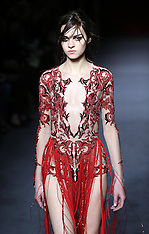 FEB 16 2013 Julien Macdonald show at London Fashion Week A/W 13