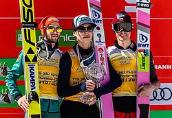 24.03.2019, Planica, Ratece, SLO, FIS Weltcup Ski Sprung, Skiflug, Finale, Siegerehrung, Gesamtweltcupwertung, im Bild 2. Platz Markus Eisenbichler (GER), Sieger Ryoyu Kobayashi (JPN, 3. Platz Piotr Zyla (POL) // f.l. 2nd place Markus Eisenbichler (GER), Winner Ryoyu Kobayashi of Japan, 3rd place Piotr Zyla of Poland during the allover winner Ceremony for the Ski Flying World Cup Final 2019. Planica in Ratece, Slovenia on 2019/03/24. EXPA Pictures © 2019, PhotoCredit: EXPA/ JFK