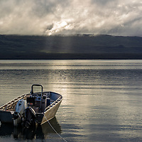 Sunrays poke through the clouds on a Sept morning out on the Alaska Peninsula in Katmai