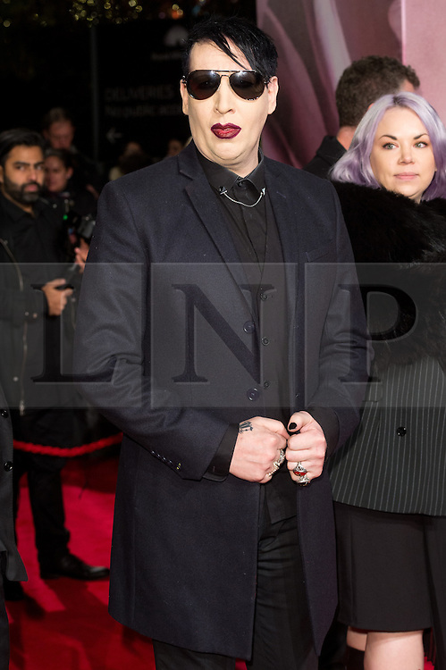 © Licensed to London News Pictures. 05/12/2016. MARYLIN MANSON arrives for The Fashion Awards 2016 celebrating the best of British and international fashion. London, UK. Photo credit: Ray Tang/LNP