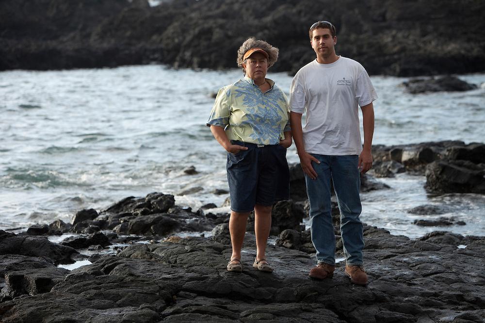 Hannah Springer and Kekaulike Tomich at Kukio, Big Island, Hawaii