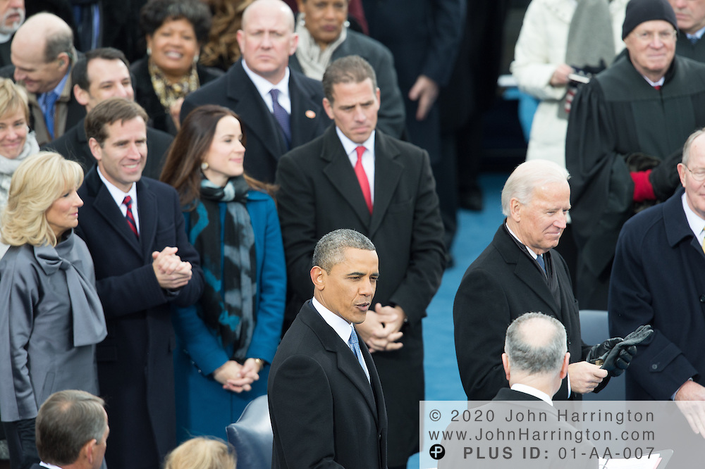 Biden Family and President Obama at the 57th Presidential Inauguration of President Barack Obama at the U.S. Capitol Building in Washington, DC January 21, 2013.