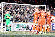 Shrewsbury Town forward Stefan Payne (45) scores a goal 1-2 and celebrates  during the EFL Sky Bet League 1 match between Scunthorpe United and Shrewsbury Town at Glanford Park, Scunthorpe, England on 17 March 2018. Picture by Mick Atkins.