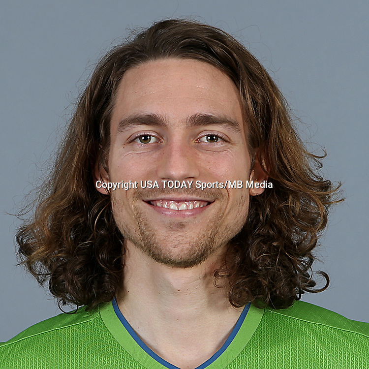Feb 25, 2016; USA; Seattle Sounders FC player Andy Craven poses for a photo. Mandatory Credit: Corky Trewin-USA TODAY Sports
