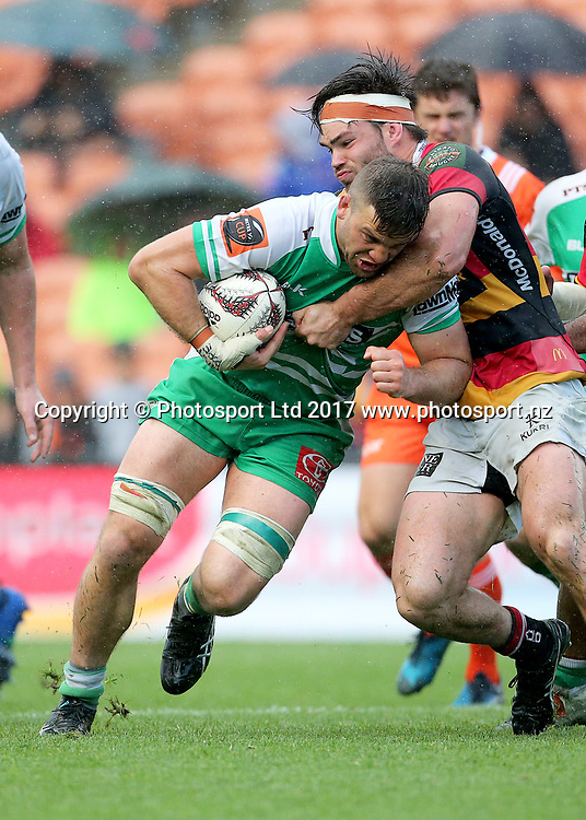 Manawatu flanker Heiden Bedwell-Curtis in action during the Mitre 10 Cup rugby match - Waikato v Manawatu played at FMG Stadium Waikato, Hamilton, New Zealand on Saturday 16 September 2017.  <br /> <br /> Copyright photo: &copy; Bruce Lim / www.photosport.nz