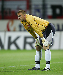 WARSAW, POLAND - WEDNESDAY, SEPTEMBER 7th, 2005: Poland's goalkeeper Artur Boruc during the World Cup Group Six Qualifying match against Wales at the Legia Stadium. (Pic by David Rawcliffe/Propaganda)