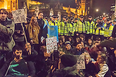 2015-12-01 Hundreds protest as Syria bombing is debated in Parliament