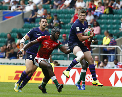 May 26, 2019 - Twickenham, England, United Kingdom - Robbie Fergusson of Scotland.during The HSBC World Rugby Sevens Series 2019 London 7s Challenge Trophy Quarter Final Match 28 between Kenya and Scotland at Twickenham on 26 May 2019. (Credit Image: © Action Foto Sport/NurPhoto via ZUMA Press)