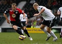 Photo: Steve Bond/Sportsbeat Images.<br />Derby County v Blackburn Rovers. The FA Barclays Premiership. 30/12/2007. David Bentley (L) goes outside defender Jay McEveley (R)