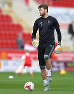 Marcus Bettinelli of Fulham warming up prior the Sky Bet Championship match at the New York Stadium, Rotherham<br /> Picture by James Wilson/Focus Images Ltd 07709 548263<br /> 01/04/2017