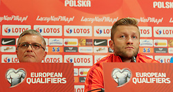 August 31, 2017 - Copenhagen, Denmark - Poland's head coach Adam Nawalka and Jakub Blaszczykowski, during press conference before FIFA World Cup 2018 qualifier MD-1 between Denmark and Poland at Parken Stadium in Copenhagen, Denmark on 31 August 2017. (Credit Image: © Foto Olimpik/NurPhoto via ZUMA Press)