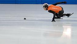 12-02-2014 SHORTTRACK: OLYMPIC GAMES TRAINING: SOTSJI<br /> In het Olympic Skating Training venue werkte de shorttrackers hun training af / Christiaan Bokkerink<br /> ©2014-FotoHoogendoorn.nl