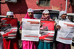 March 28, 2019 - Srinagar, Kashmir, 28th march 2019. The Association of Parents of Disappeared People (APDP) hold a protest against the custodial killing of  Kashmiri teacher Rizwan Pandith, who was arrested on March 17th by the police in a 'militancy-related case', and died in police custody  in Srinagar  two days later. The protesters called for a speedy trail and punishment of those involved in Rizwan's  killing (Credit Image: © Muzamil Mattoo/IMAGESLIVE via ZUMA Wire)