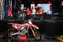 Tim Gajser having a speech on stage during sprejem Tima Gajsreja, on Avgust 27, 2019 in Maribor, Slovenia. Photo by Blaž Weindorfer / Sportida