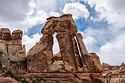 Druid Arch, in the Needles District of Canyonlands National Park. Monticello, Utah, USA.