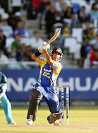 CAPE TOWN, SOUTH AFRICA - 20 April 2008, JP Duminy hits another four during the Standard Bank Pro 20 Semi Final match between The Nashua Cape Cobras and Nashus Titans held at Sahara Park Newlands in Cape Town, South Africa...Photo by www.sportzpics.net