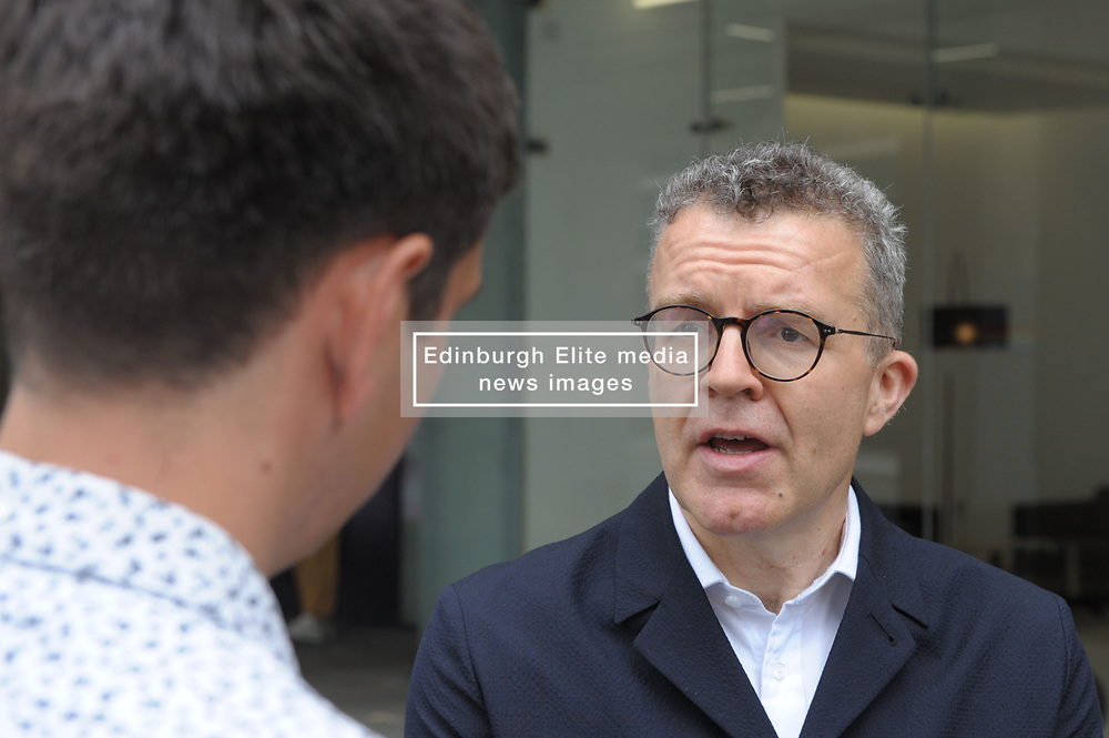 Tom Watson, Deputy Leader of the Labour Party and Shadow Culture Secretary arrives at the  Labour Party  London HQ. Outside he was questioned by reporters on whether Labour was now a remain party.<br /> <br /> Richard Hancox | EEm 09072019