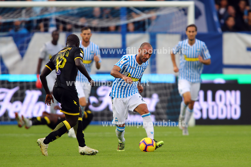 "Foto Filippo Rubin<br /> 28/10/2018 Ferrara (Italia)<br /> Sport Calcio<br /> Spal - Frosinone - Campionato di calcio Serie A 2018/2019 - Stadio ""Paolo Mazza""<br /> Nella foto: PASQUALE SCHIATTARELLA (SPAL)<br /> <br /> Photo Filippo Rubin<br /> October 28, 2018 Ferrara (Italy)<br /> Sport Soccer<br /> Spal vs Frosinone - Italian Football Championship League A 2018/2019 - ""Paolo Mazza"" Stadium <br /> In the pic: PASQUALE SCHIATTARELLA (SPAL)"