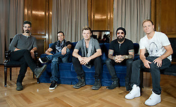 The Backstreet Boys in Madrid. <br /> The Backstreet Boys, Kevin Richardson, Howie Dorough, Nick Carter, A.J. Maclean and Brien Littrell visit Spain to celebrate their 20th anniversary. The group that revolutionised a decade has been reunited to celebrate their 20th anniversary in the music world, Madrid, Spain, Tuesday, 12th November 2013. Picture by DyD Fotografos / i-Images<br /> SPAIN OUT