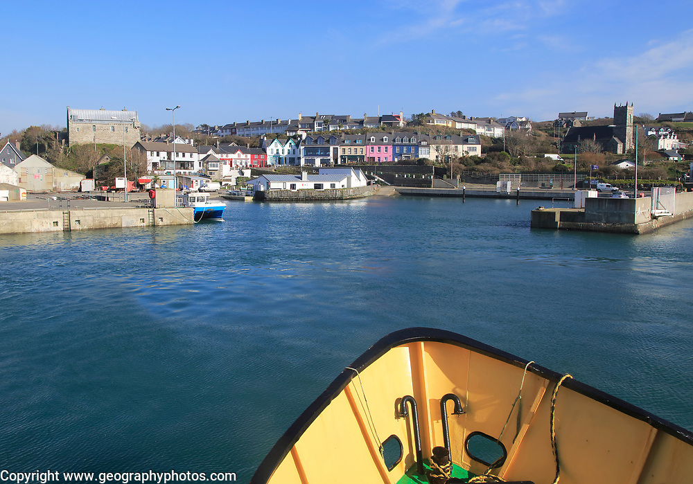 Cape Clear ferry approaching the harbour at Baltimore, County Cork, Ireland, Irish Republic