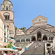 Amalfi, panoramic photograph of the beautiful Cathedral