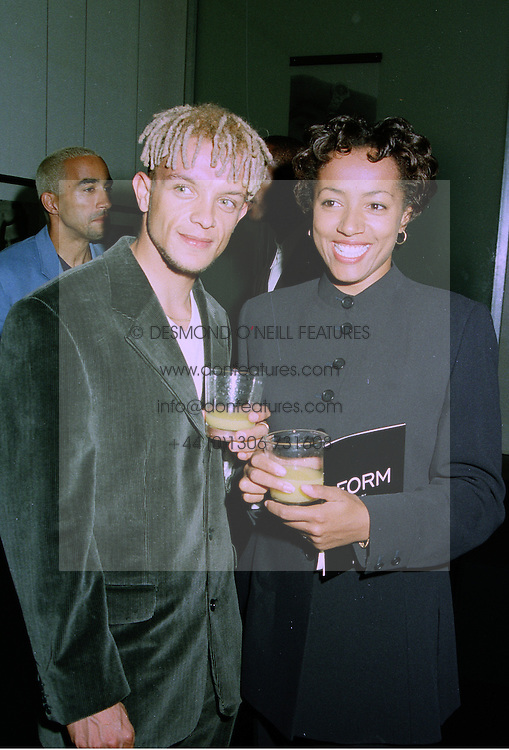 400m runner JAMIE BAULCH who won a silver medal in the 4x400m relay at the World championships in Athens and his fiance MISS SUSANNAH SPRING, at a party in London on 10th September 1997.MBB 9