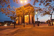 France. Paris. 8th district. arc de triomphe, place de l'etoile ,