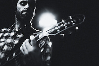 Lloyd's Garage guitarist Seth Heitzmann performs at studio in Berkeley, CA.  Copyright 2009 Reid McNally.