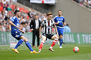 Grimsby Town midfielder Jon Nolan during the FA Trophy match between Grimsby Town FC and Halifax Town at Wembley Stadium, London, England on 22 May 2016. Photo by Dennis Goodwin.