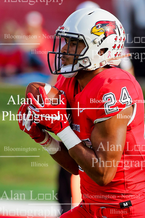 NORMAL, IL - October 06: Christian Uphoff during a college football game between the ISU (Illinois State University) Redbirds and the Western Illinois Leathernecks on October 06 2018 at Hancock Stadium in Normal, IL. (Photo by Alan Look)