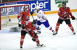 Jay Bouwmeester of Canada at play-off round quarterfinals ice-hockey game Norway vs Canada at IIHF WC 2008 in Halifax,  on May 14, 2008 in Metro Center, Halifax, Nova Scotia,Canada. (Photo by Vid Ponikvar / Sportal Images)