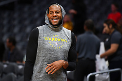 November 12, 2018 - Los Angeles, CA, U.S. - LOS ANGELES, CA - NOVEMBER 12: Golden State Warriors Guard Andre Iguodala (9) looks on before a NBA game between the Golden State Warriors and the Los Angeles Clippers on November 12, 2018 at STAPLES Center in Los Angeles, CA. (Photo by Brian Rothmuller/Icon Sportswire) (Credit Image: © Brian Rothmuller/Icon SMI via ZUMA Press)