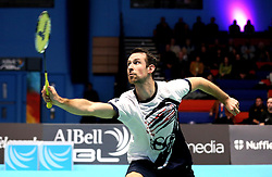 Richard Eidestedt of Bristol Jets plays a shot - Photo mandatory by-line: Robbie Stephenson/JMP - 07/11/2016 - BADMINTON - University of Derby - Derby, England - Team Derby v Bristol Jets - AJ Bell National Badminton League