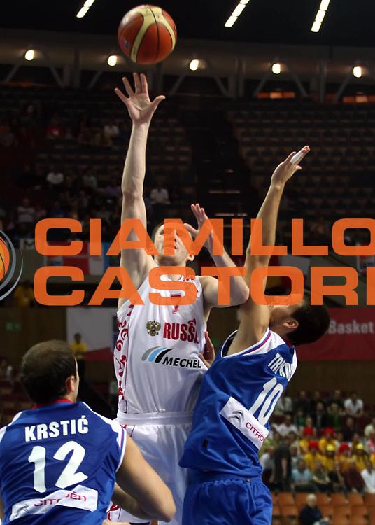 DESCRIZIONE : Katowice Poland Polonia Eurobasket Men 2009 Quarter Final Russia Serbia<br /> GIOCATORE : Vitalii Fridzon<br /> SQUADRA : Russia <br /> EVENTO : Eurobasket Men 2009<br /> GARA : Russia Serbia<br /> DATA : 17/09/2009 <br /> CATEGORIA :<br /> SPORT : Pallacanestro <br /> AUTORE : Agenzia Ciamillo-Castoria/A.Vlachos<br /> Galleria : Eurobasket Men 2009 <br /> Fotonotizia : Katowice  Poland Polonia Eurobasket Men 2009 Quarter Final Russia Serbia<br /> Predefinita :