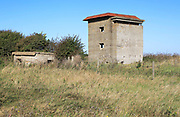Military buildings  battery observation post at East Lane, Bawdsey, Suffolk, England, UK