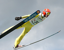 27.09.2015, Energie AG Skisprung Arena, Hinzenbach, AUT, FIS Ski Sprung, Sommer Grand Prix, Hinzenbach, im Bild Richard Freitag (GER) // during FIS Ski Jumping Summer Grand Prix at the Energie AG Skisprung Arena, Hinzenbach, Austria on 2015/09/27. EXPA Pictures © 2015, PhotoCredit: EXPA/ Reinhard Eisenbauer