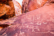 Petroglyphs at Valley of Fire State Park, Nevada